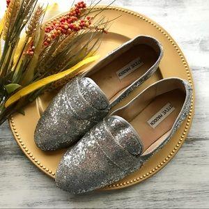 Steve Madden eltonn glitter loafer flats sz 8.5